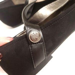 libby. edelman Shoes - Libby Edelman Pointed Black Flats Ankle Strap 8.5
